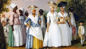 Agostino Brunias - Trois Femmes créoles accompagnées de leurs enfants